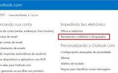 Como bloquear um endereço de email no Hotmail?