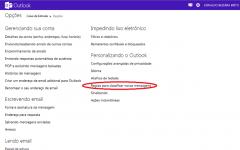Como criar regras de controle e filtros no Hotmail?